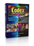 Codex: Card-Time Strategy – Flagstone Dominion vs. Blackhand Scourge Expansion board game