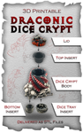 Draconic Dice Crypt: 3D Printable Dice Box & Drink Holder image