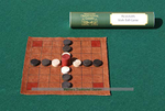 Irish Brandubh - Leather Board with Wooden Pieces board game