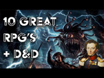 10 great Roleplaying games plus Dungeons and Dragons - YouTube image