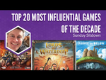 Top 20 Most Influential Games of the Last Decade (Jamey Stegmaier) - YouTube image