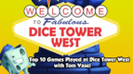 Top 10 Games Played at Dice Tower West - with Tom Vasel - YouTube image