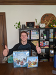 Here's David with his giveaway wins! image