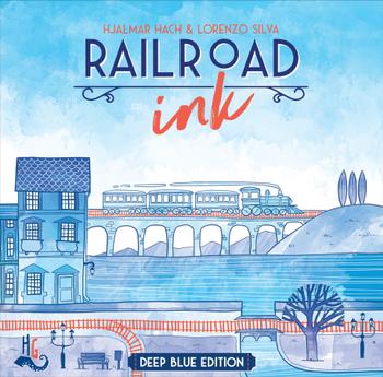 Railroad Ink: Deep Blue Edition board game