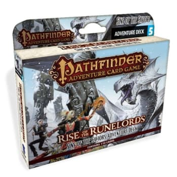 Pathfinder Adventure Card Game: Rise of the Runelords Adventure Deck 5: Sins of the Saviors board game