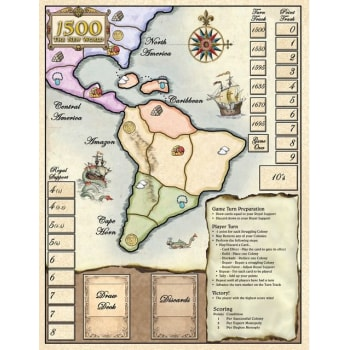 1500: The New World Neoprene Roll Up Game Mat board game