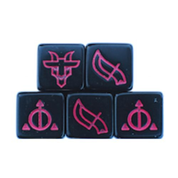 Ashes: Rise of the Phoenixborn - Black Ceremonial Dice Set