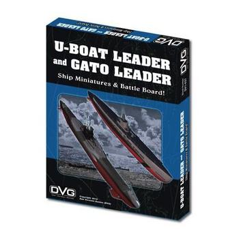 U-Boat Leader & Gato Leader: Ship Miniatures & Battle Board board game