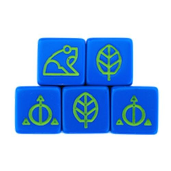 Ashes: Rise of the Phoenixborn - Blue Natural Dice Set