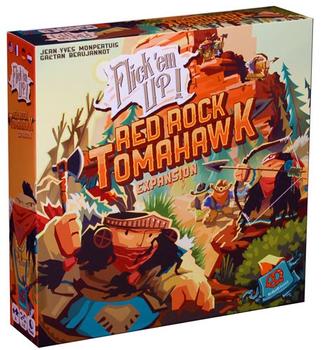 Flick Em Up!: Red Rock Tomahawk Expansion board game