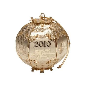 Settlers of Catan: Cut Brass Ornament - 2010 Brick