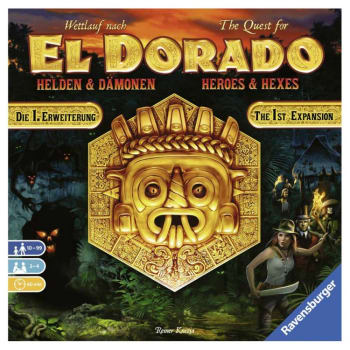 The Quest for El Dorado: Heroes and Hexes board game