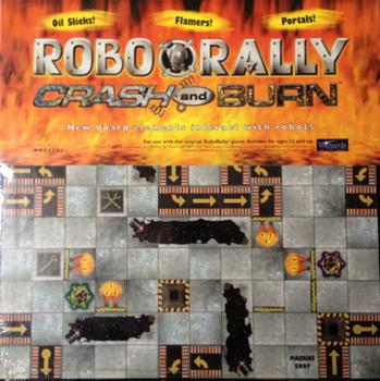 RoboRally: Crash and Burn board game
