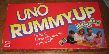 UNO Rummy-Up board game
