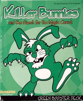 Killer Bunnies and the Quest for the Magic Carrot: GREEN Booster board game