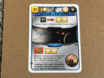 Terraforming Mars: Jovian Lanterns Promo Card board game