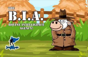 The B.I.A. (Bovine Intelligence Agency) board game