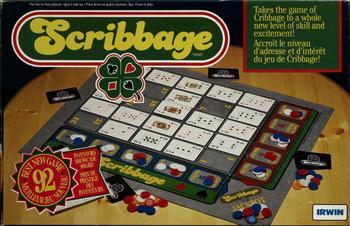 Scribbage board game