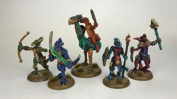 RuneQuest Dragonewt Miniatures and Scenery board game