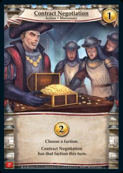 Hero Realms: Contract Negotiation Promo Card board game