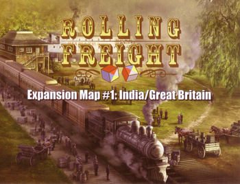 Rolling Freight: Great Britain and India board game