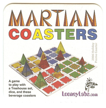 Martian Coasters board game
