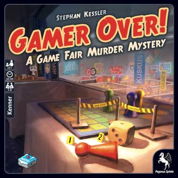 Gamer Over! A Game Fair Murder Mystery board game