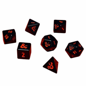 Polyhedral Dice (Set of 7): Heavy Metal - Dungeons & Dragons board game