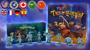 For Treasures! board game