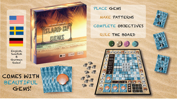 Island of Gems- Colorful Gem Laying Strategy Game! board game