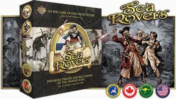 SeaRovers - An Epic Game of True Pirate History board game
