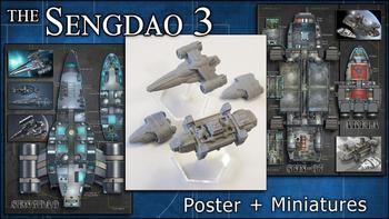 Sengdao 3: Starship Miniatures & Maps board game