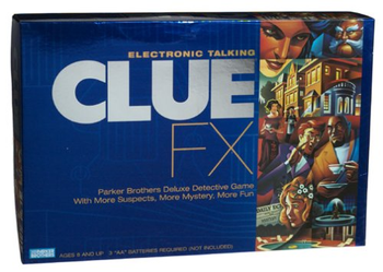 Electronic Talking Clue FX board game