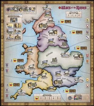 Wars of the Roses: Lancaster vs. York board game