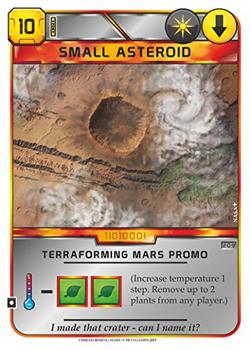 Terraforming Mars: Small Asteroid Promo Card board game