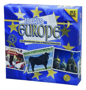 10 Days In Europe Game board game