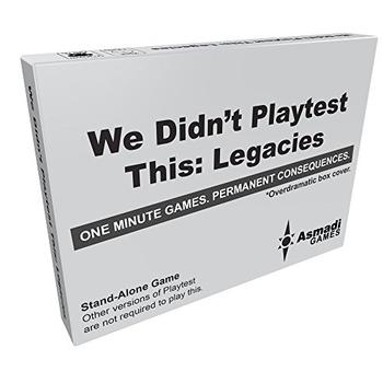 We Didn't Playtest This: Legacies Card Game board game