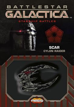 Battlestar Galactica: Starship Battles - Scar Cylon Raider board game