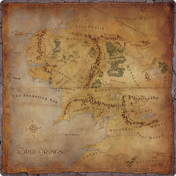 The Lord of the Rings: Journeys in Middle-Earth - The Road Goes Ever On & On Game Mat