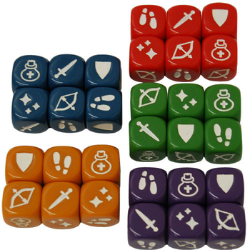 Masmorra: Dungeons of Arcadia - Colored Action Dice Pack (30)