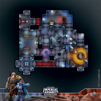 Star Wars Imperial Assault: Malastarian Outpost Raid Map board game