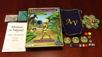 Adventures in Valyriah - Chapter One: The Great Forest board game