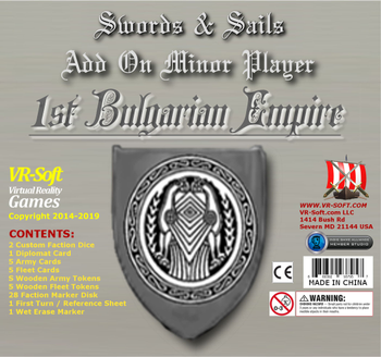 Swords & Sails: Add on Minor Player - 1st Bulgarian Empire board game