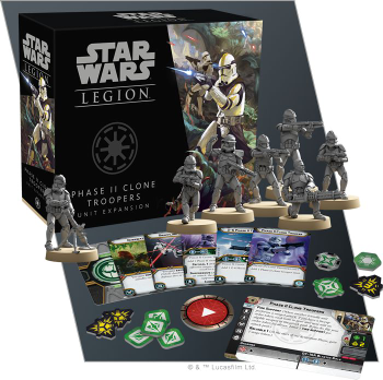 Star Wars: Legion - Phase II Clone Troopers Unit Expansion board game