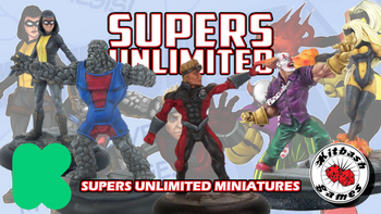 Supers Unlimited Miniatures board game