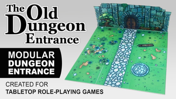 The Old Dungeon Entrance for Tabletop role-playing games board game