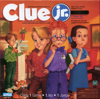 Clue Jr.: The Case of the Hidden Toys board game