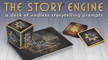 THE STORY ENGINE deck of endless storytelling prompts + book board game