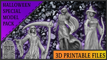 3D Printable Spooky Tabletop Miniatures board game
