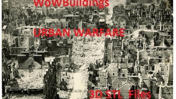 WOW Urban Warfare 3D printable STL files for World War 2 board game